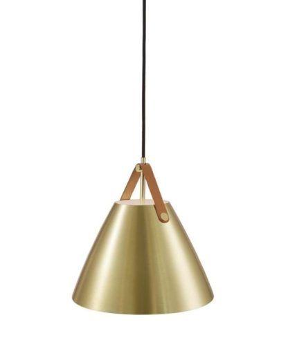Designerska lampa wisząca Strap 27 - DFTP - Nordlux - złota