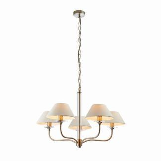 Designerski żyrandol Kingston - Endon Lighting - srebrny