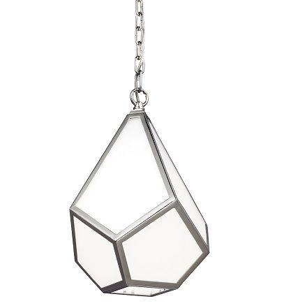 Elegancka lampa wisząca Diamond szklana mała