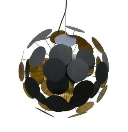 Lampa wisząca - Dots złoto - Zuma Line - metal - czarna