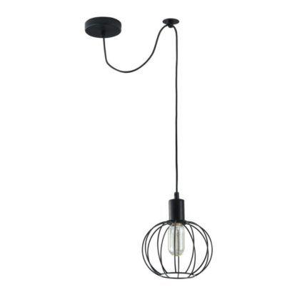 Druciana lampa wisząca Monza - Maytoni - czarna kula