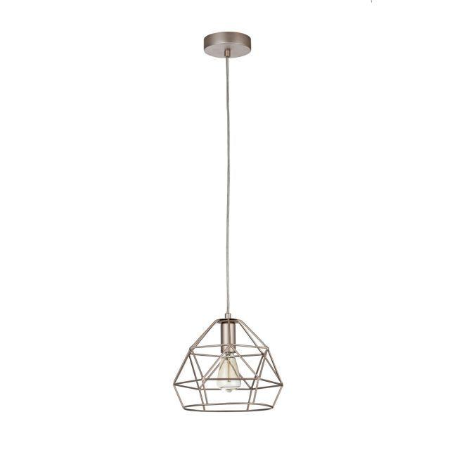 lampa wisząca miedziana druciana
