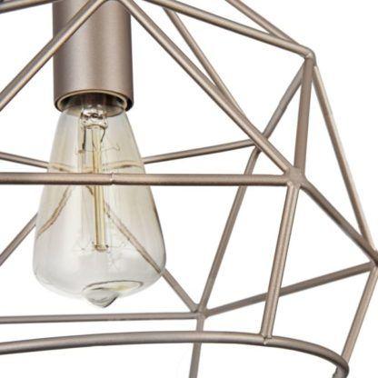 lampa wisząca druciana kremowa