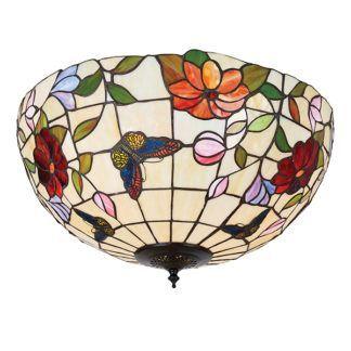 Duża lampa sufitowa Butterfly - Interiors - szklana