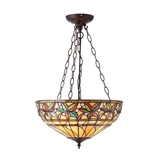 lampa wisząca z kolorowego szkła