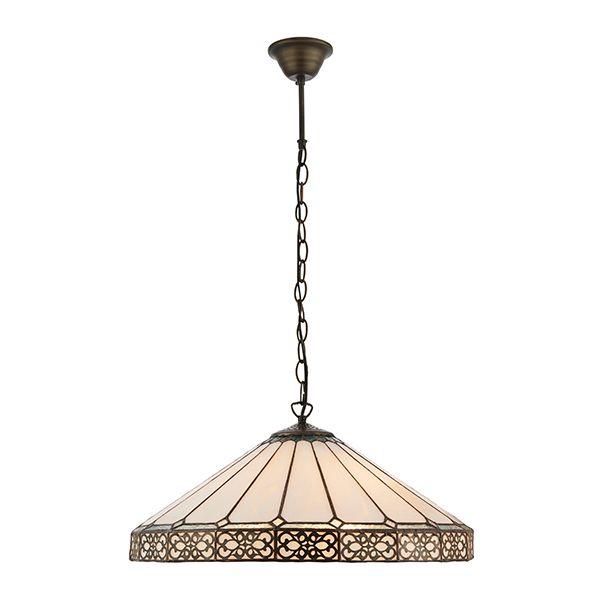 kuchenna lampa wisząca wykonana z mozaikowego szkła w kolorze beżowym