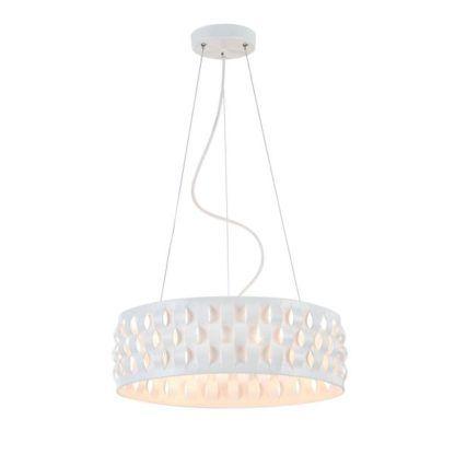 lampa wisząca biała z falowanymi bokami