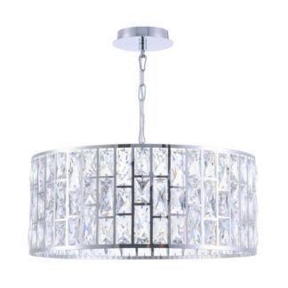 Duża lampa wisząca Gelid - Maytoni - kryształki