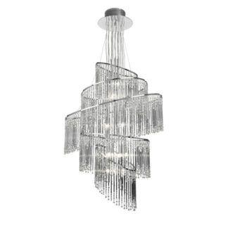 Duży żyrandol Camille - Endon Lighting - chrom, szkło