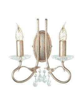 Dwuramienny kinkiet Laura - Ardant Decor - dekoracyjne kryształy