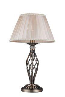 Elegancka lampa stołowa Grace - Maytoni - beżowy klosz