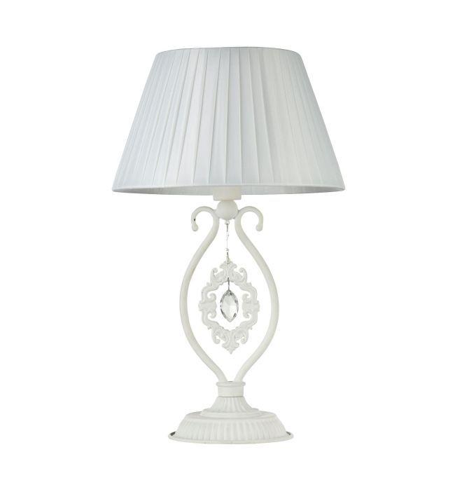 lampa stołowa ze zdobioną szeroką podstawą