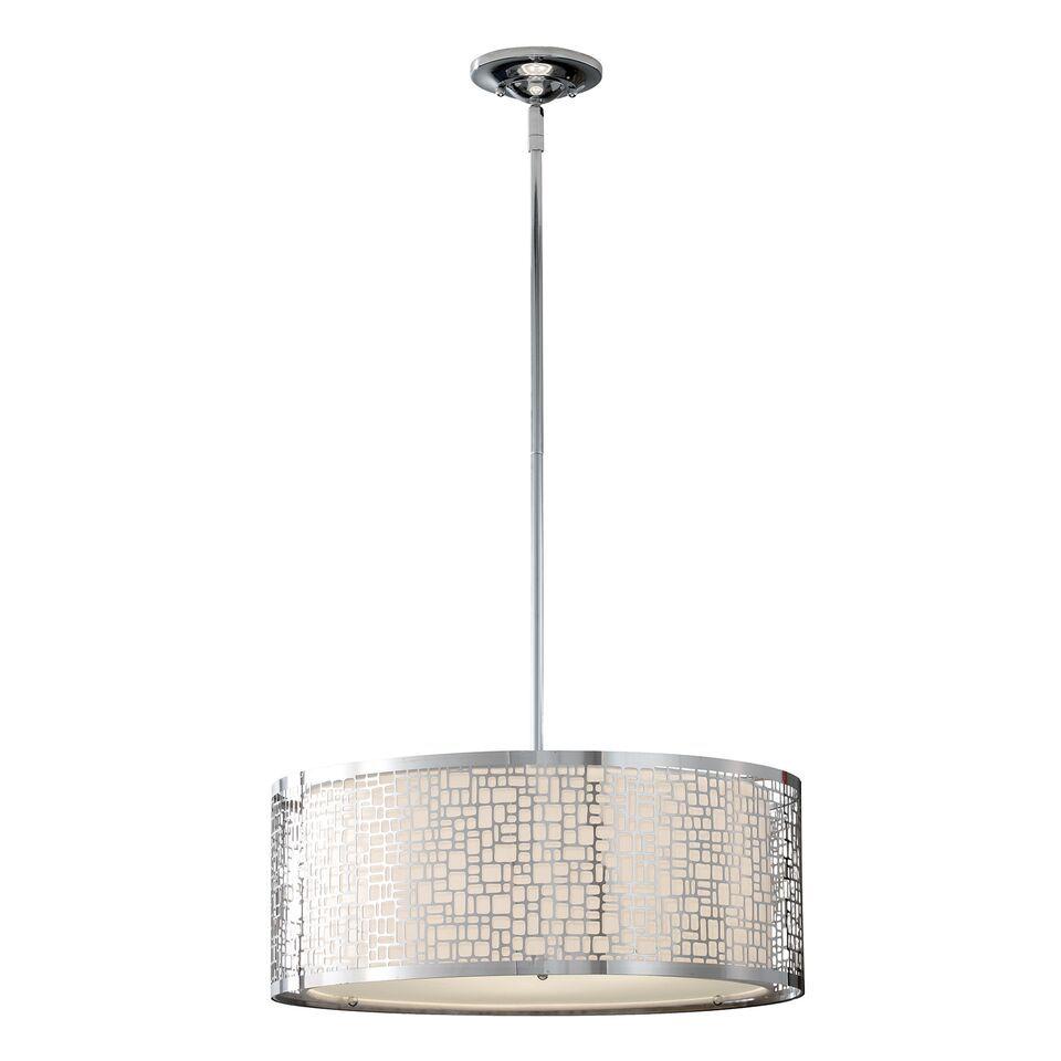 Elegancka lampa wisząca - Bridget - chrom