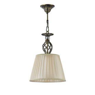 Elegancka lampa wisząca Grace - Maytoni - beżowy klosz