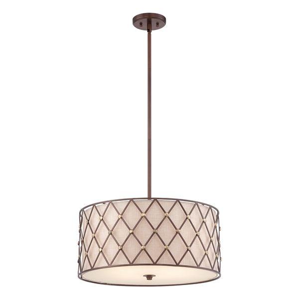 Elegancka lampa wisząca  - Klara - brązowa
