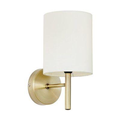 Elegancki kinkiet Brio - Endon Lighting - złoty, kremowy