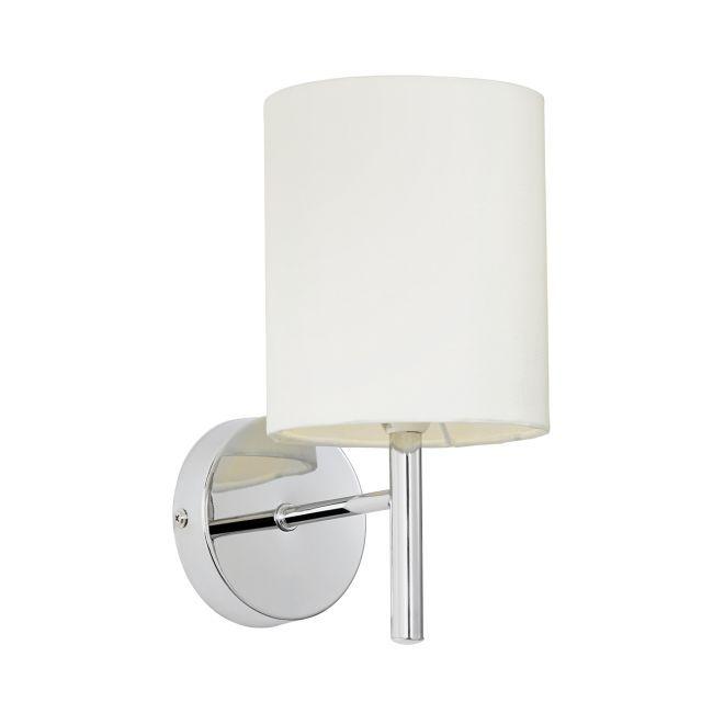 Elegancki kinkiet Brio - Endon Lighting - srebrny, biały klosz
