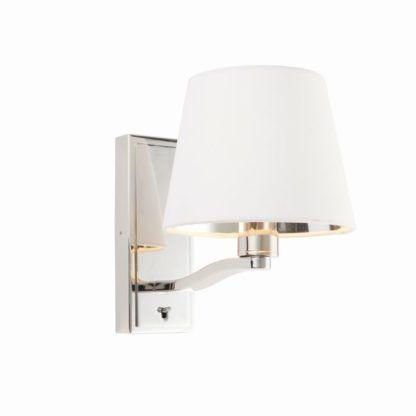 Elegancki kinkiet Harvey - Endon Lighting - srebrny, biały