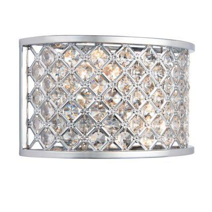 Elegancki kinkiet Hudson - Endon Lighting - srebrny