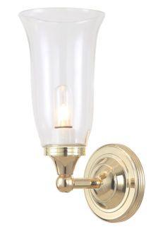 Elegancki kinkiet łazienkowy Newport - IP44, złoty, szklany