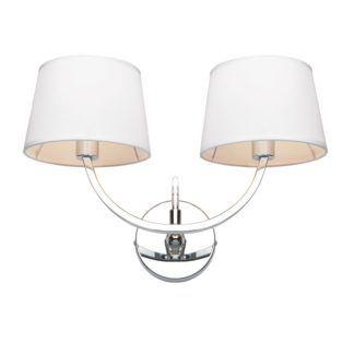 Elegancki kinkiet Macy - Endon Lighting - srebrny, biały