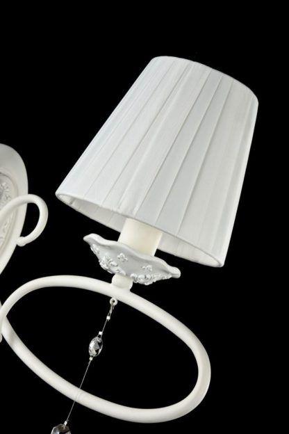 Elegancki kinkiet Passarinho - Maytoni - biały abażur