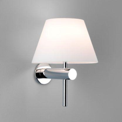 Elegancki kinkiet Roma Astro Lighting – chrom – szklany IP44