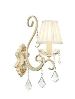 Elegancki kinkiet Triumph - Maytoni - kremowy, złoty