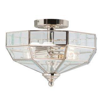 Elegancki plafon Art Deco w stylu nowojorskim - srebrny