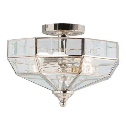 Plafon Art Deco - elegancki w stylu nowojorskim - srebrny