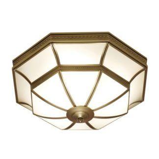 Elegancki plafon Balfour - Interiors - mosiądz, szkło