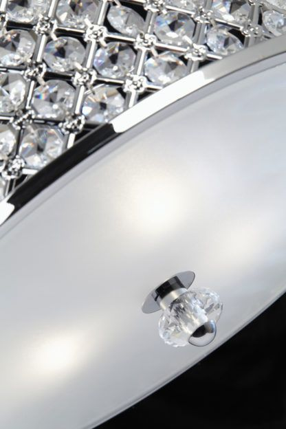 Elegancki plafon Hudson - Endon Lighting - srebrny