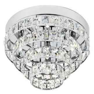 Elegancki plafon Motown - Endon Lighting - srebrny, kryształki