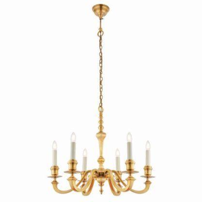 złoty żyrandol z białymi świeczkami