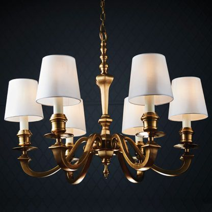 Elegancki żyrandol Fenbridge - Interiors - mosiądz