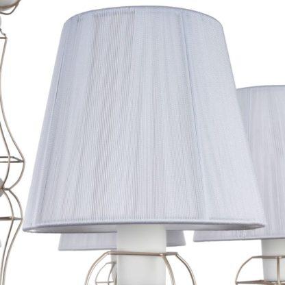 Elegancki żyrandol Frame - Maytoni - 6 żarówek - biały