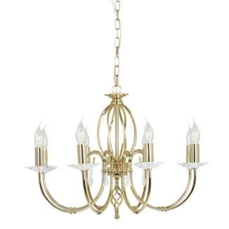 Elegancki żyrandol Grace - Ardant Decor - 8 żarówek - złoty