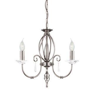 Elegancki żyrandol Grace srebrny