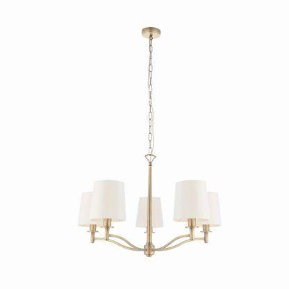 Elegancki żyrandol Ortona - Endon Lighting - biały, złoty