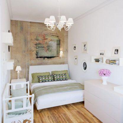 biało złoty żyrandol do sypialni z abażurami