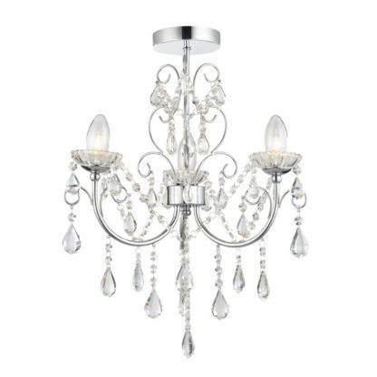 Elegancki żyrandol Tabitha - Endon Lighting - srebrny