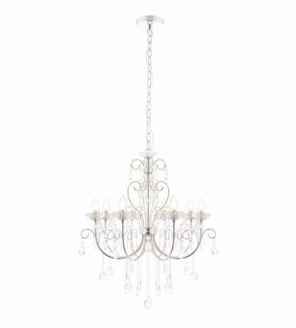 Elegancki żyrandol Tabitha - Endon Lighting - 8 żarówek - srebrny