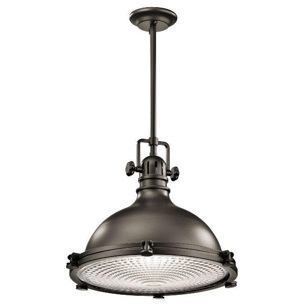 Industrialna lampa wisząca Jackson - duża, ciemny brąz