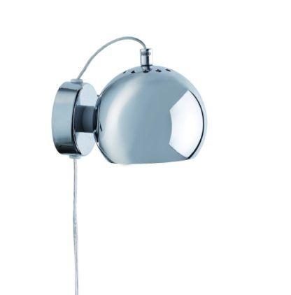 Nowoczesny kinkiet Ball - Frandsen Lighting - połysk chrom