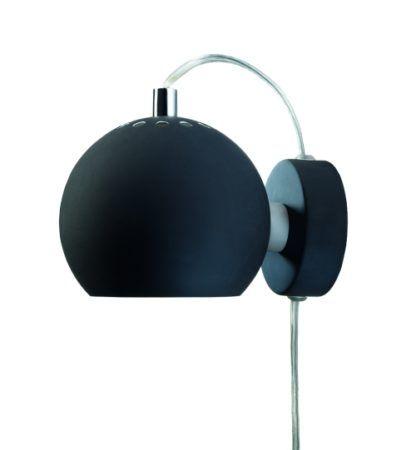 Nowoczesny kinkiet Ball - Frandsen Lighting - matowy czarny