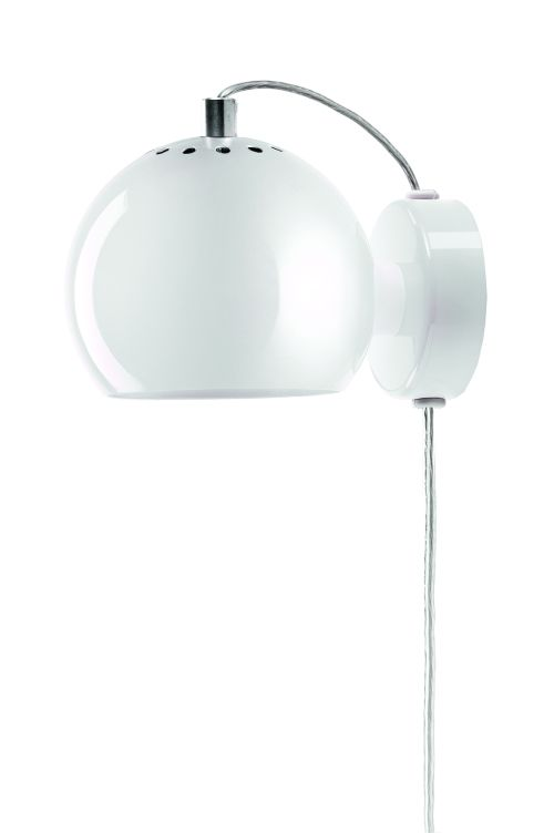 Nowoczesny kinkiet Ball - połysk biały - Frandsen Lighting