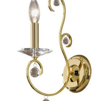 Kinkiet CARAT Crystal - złoty, kryształ PURE - Kolarz
