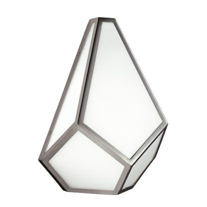 Elegancki szklany kinkiet Diamond nikiel