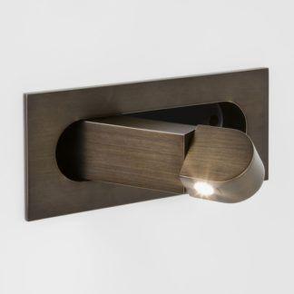 Kinkiet Digit LED - Astro Lighting - brązowy, metalowy