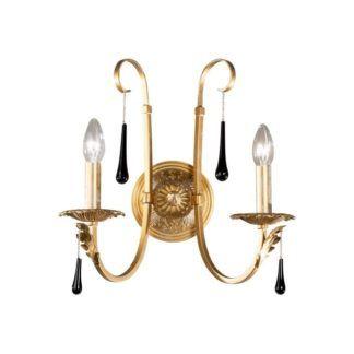 Kinkiet FIORENZA - Kolarz - złoty, szkło Murano